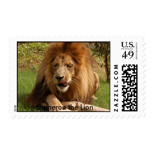Cameron_toy_003_4x6, Cameron the Lion Stamps