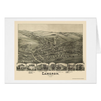 Cameron, WV Panoramic Map - 1899 Card