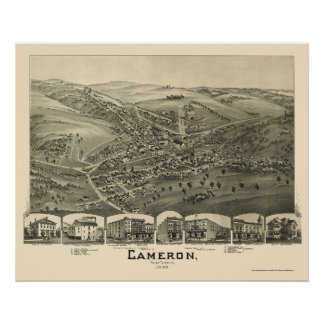 Cameron, WV Panoramic Map - 1899 Poster