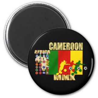 Cameroon 32 qualifying country flags football gift 2 inch round magnet