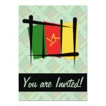 Cameroon Brush Flag 5x7 Paper Invitation Card