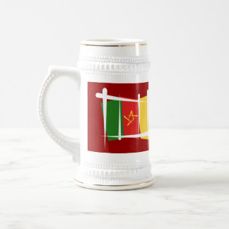 Cameroon Brush Flag Beer Stein