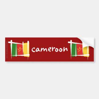Cameroon Brush Flag Bumper Sticker