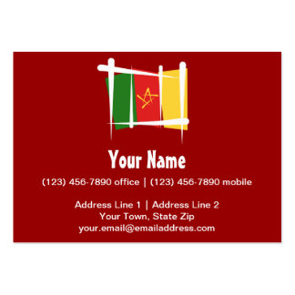 Cameroon Brush Flag Large Business Cards (Pack Of 100)