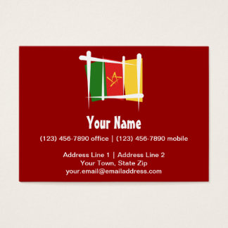 Cameroon Brush Flag Business Card
