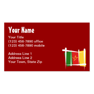 Cameroon Brush Flag Double-Sided Standard Business Cards (Pack Of 100)