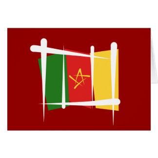 Cameroon Brush Flag Card