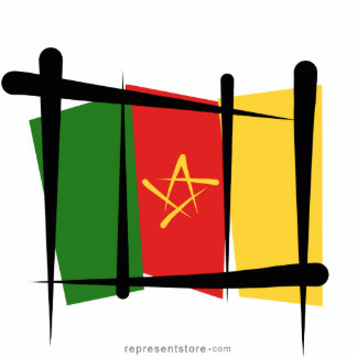 Cameroon Brush Flag Cutout