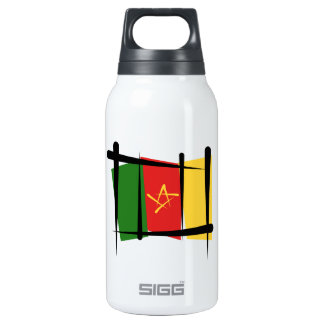 Cameroon Brush Flag Insulated Water Bottle
