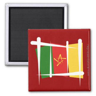 Cameroon Brush Flag Magnet