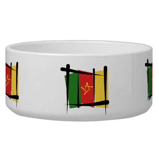 Cameroon Brush Flag Pet Food Bowl