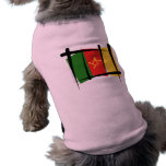 Cameroon Brush Flag Pet T Shirt