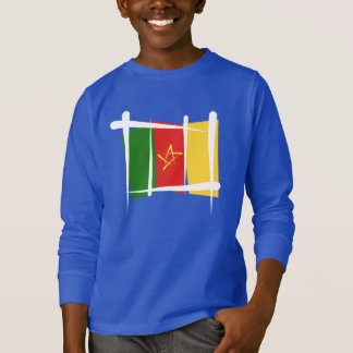 Cameroon Brush Flag T-Shirt
