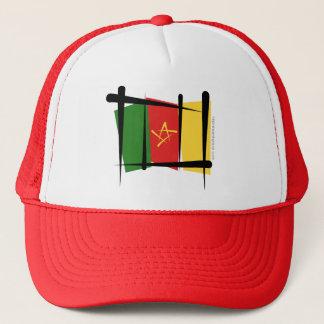 Cameroon Brush Flag Trucker Hat