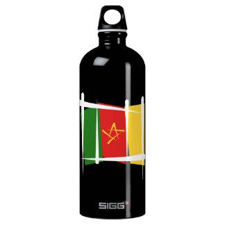 Cameroon Brush Flag Water Bottle