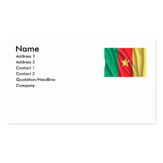 CAMEROON Double-Sided STANDARD BUSINESS CARDS (Pack OF 100)