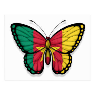 Cameroon Butterfly Flag Postcard
