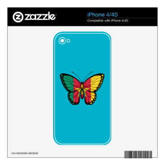 Cameroon Butterfly Flag Decal For The iPhone 4