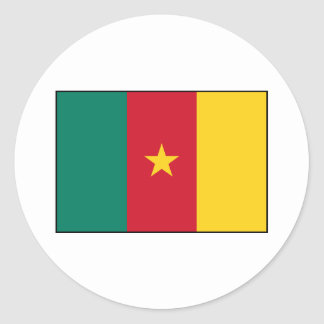 Cameroon – Cameroonian Flag Classic Round Sticker