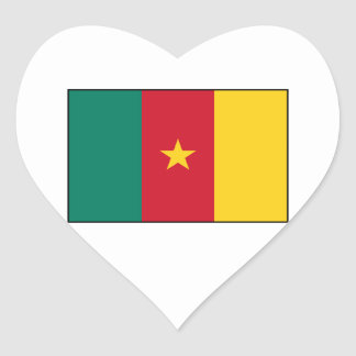 Cameroon – Cameroonian Flag Heart Sticker