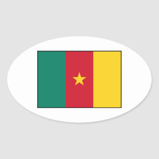 Cameroon – Cameroonian Flag Oval Sticker