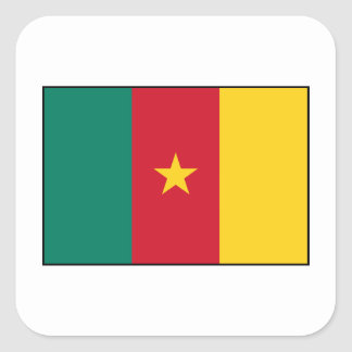 Cameroon – Cameroonian Flag Square Sticker