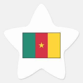 Cameroon – Cameroonian Flag Star Sticker