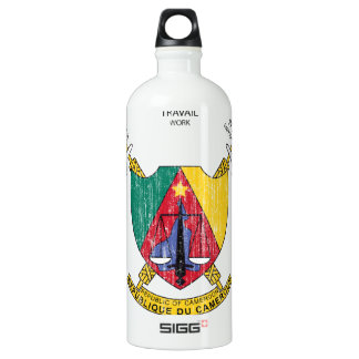 Cameroon Coat Of Arms Aluminum Water Bottle
