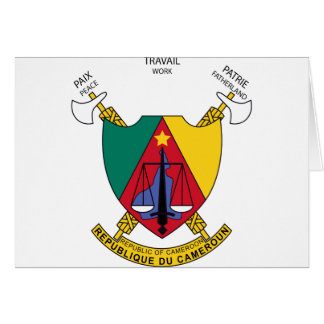 Cameroon Coat Of Arms Card