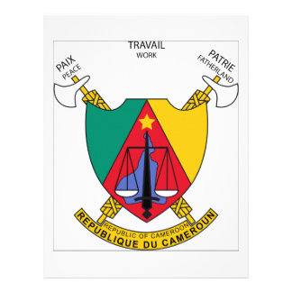 Cameroon Coat of Arms Letterhead