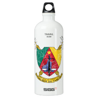 Cameroon Coat Of Arms Water Bottle