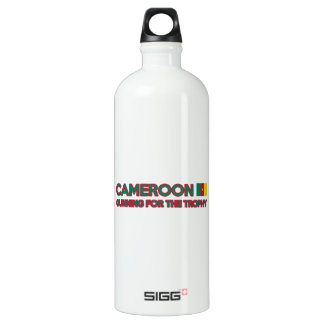 Cameroon design aluminum water bottle