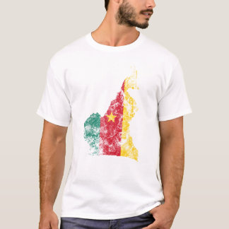 Cameroon Distressed Flag T-Shirt