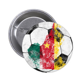 Cameroon Distressed Soccer 2 Inch Round Button
