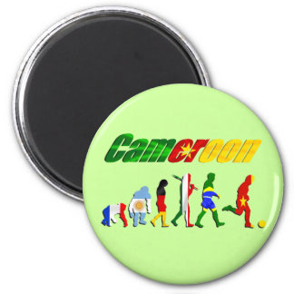 Cameroon Evolution of football gifts 2 Inch Round Magnet