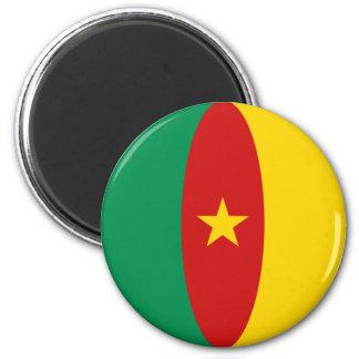 Cameroon Fisheye Flag Magnet