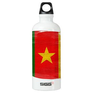 Cameroon Flag Aluminum Water Bottle