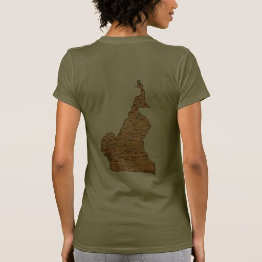Cameroon Flag and Map dk T-Shirt Shirt