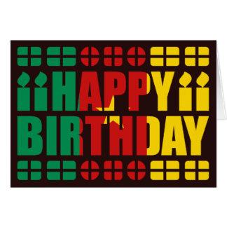 Cameroon Flag Birthday Card
