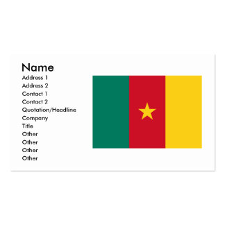 Cameroon Flag Design Double-Sided Standard Business Cards (Pack Of 100)