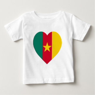 Cameroon Flag Heart Baby T-Shirt