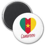 Cameroon Flag Heart Refrigerator Magnets