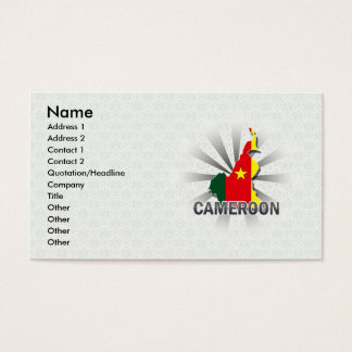 Cameroon Flag Map 2.0 Business Card
