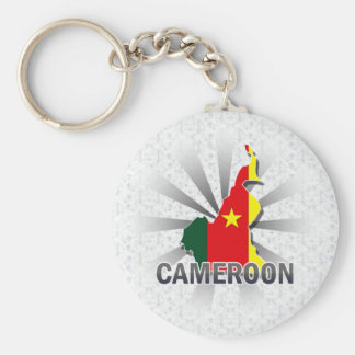 Cameroon Flag Map 2.0 Keychain
