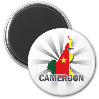 Cameroon Flag Map 2.0 Magnet