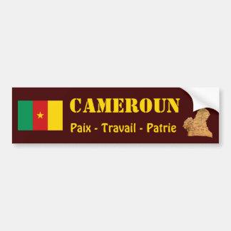 Cameroon Flag + Map Bumper Sticker