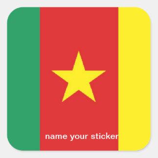 Cameroon flag sticker