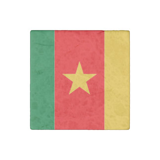 Cameroon Flag Stone Magnet