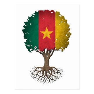 Cameroon Flag Tree of Life Customizable Postcard