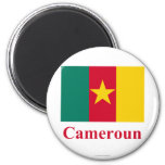 Cameroon Flag with Name in French Fridge Magnets